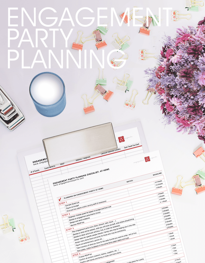 Clipboard with planning forms on a desk with colorful butterfly clips and dried flowers