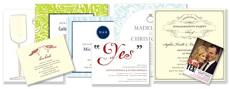 Different styles of invitations available online
