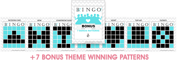 7 bonus wedding related bingo winning patterns
