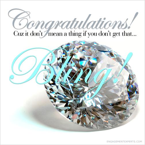 Large diamond Congratulations card