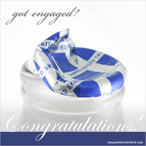 Got engaged spoof on Got Milk with Congratulations