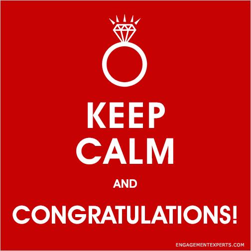 Keep calm and Congratulations