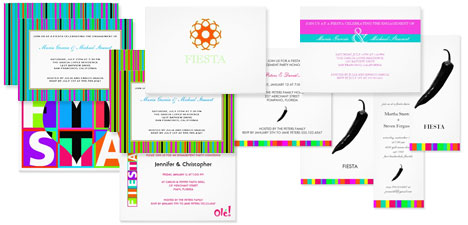 Colorful and fun Mexican fiesta themed invitations