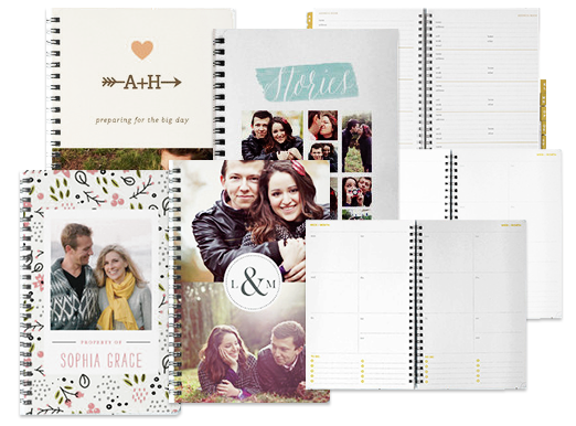 Personalized wedding journals and organizers