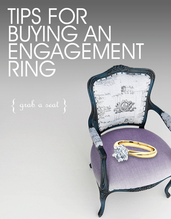 Chair with a gold solitaire diamond engagement ring