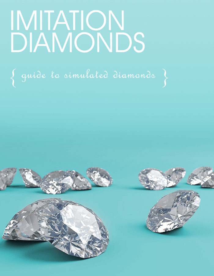 Imitation Diamonds, Cubic Zirconia, Moissanite, Simulated diamonds,