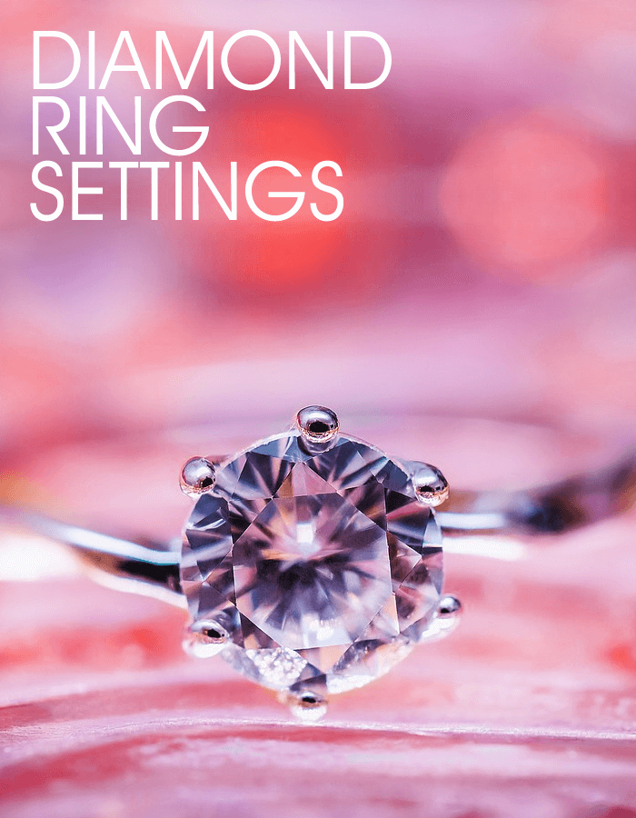 Solitaire prong setting for a diamond engagement ring