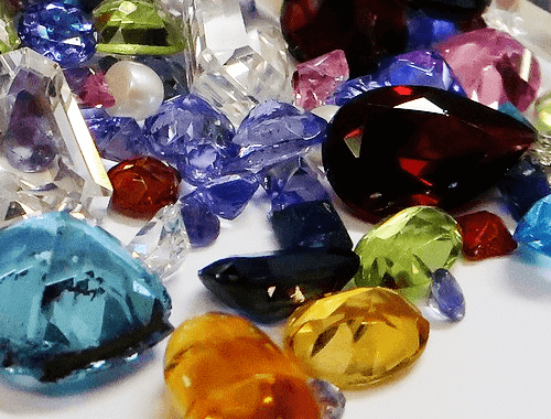 Different colored gemstones