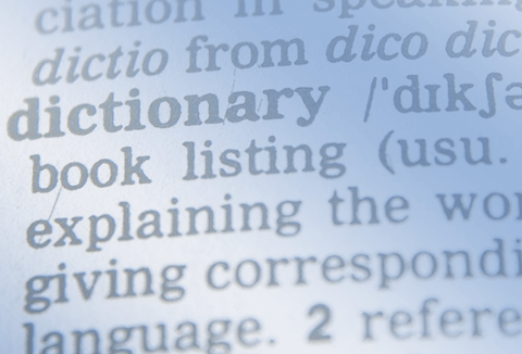 Dictionary entry of the word Dictionary