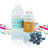 Water bottel with personalized labels