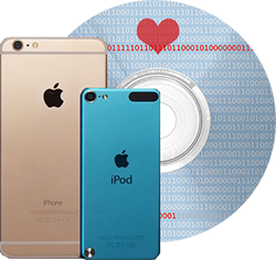 Cd Ipod and Iphone with a heart