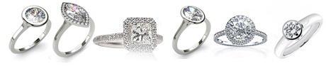 Bezel and Halo Settings for diamond engagement rings
