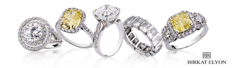 Various Cubic Zirconia designer engagement rings