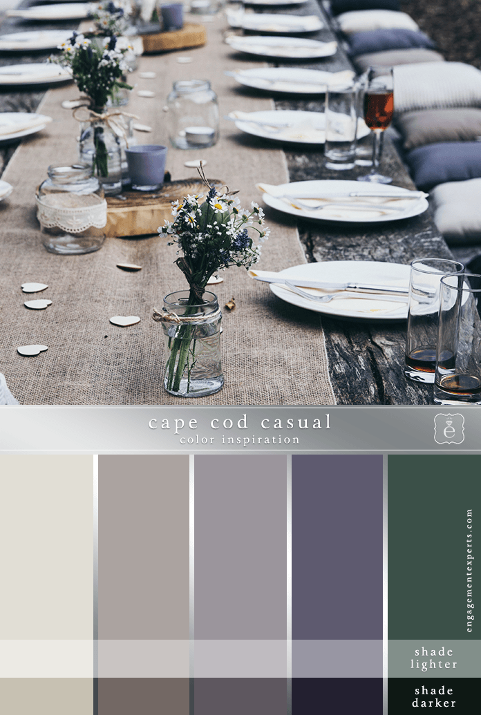 Mauve and green table setting with taupe and other neutral tones